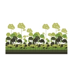 colorful lanscape with big trees vector image vector image