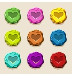 Colors stone buttons ancient amulet vector