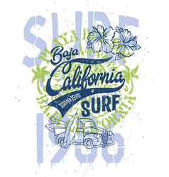 cute surfer pick up baja california vector image vector image