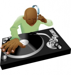 deejay mixing vector image