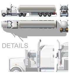 detailed tanker truck vector image vector image