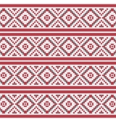 Geometric Christmas seamless pattern vector image