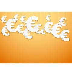 Hung symbols Euro vector image