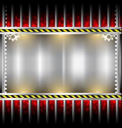 Industrial background metal frame vector