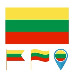 Lithuania country flag vector image vector image