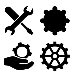 Service tools flat icons vector
