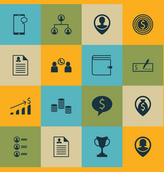 Set of 16 human resources icons includes employee vector