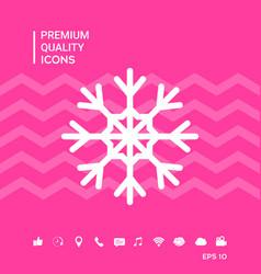 Snowflake symbol icon vector