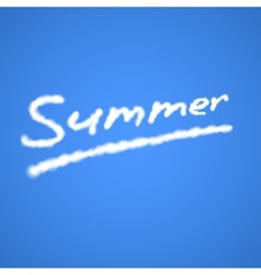 Summer Cloudy Text vector image