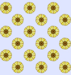 Sunflowers floral pattern vector