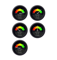 Analog battery indicator vector image