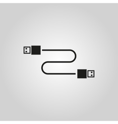 The cable usb icon transfer and connection data vector