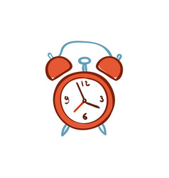 red alarm clock isolated on white background vector image