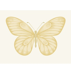 Beautiful butterfly in pastel colors vector