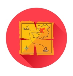 Treasure map icon vector