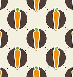 Carrot pattern seamless texture with ripe carrots vector