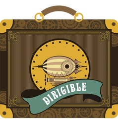 Steampunk dirigible vector