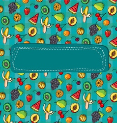 Pattern fruits and berries vector