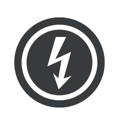 Round black voltage sign vector