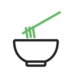 Food bowl vector