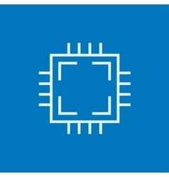 Cpu line icon vector