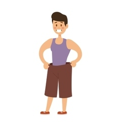 Healthy built strong sport man model fashionable vector