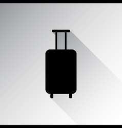 Travel luggage icon vector