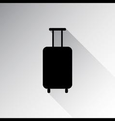 Travel luggage icon vector image