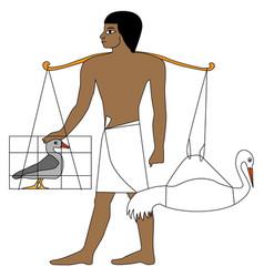 Ancient egypt farmer vector