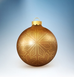 Christmas ball with snowflake vector image vector image