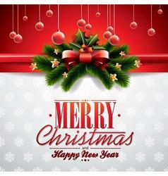 Christmas with ribbon vector