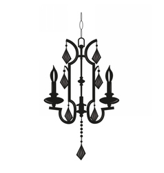 Classic chandelier with Crystals on white vector image vector image
