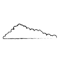 cloud monochrome blurred in white background vector image vector image