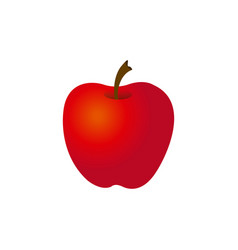 Colorful silhouette red apple fruit food vector