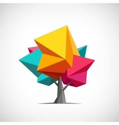 Conceptual polygonal tree abstract vector
