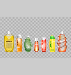 Digital green and yellow shower gel vector