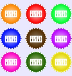 Dj console mix handles and buttons icon symbol a vector