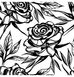 Flower rose seamless 2 vector
