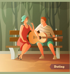 forest serenade dating background vector image vector image