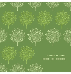 Green trees stripes corner frame pattern vector image
