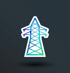 High-voltage line icon button logo symbol concept vector