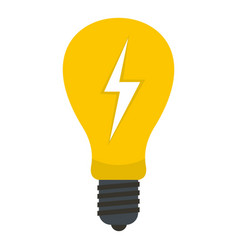 light bulb with lightning inside icon isolated vector image vector image