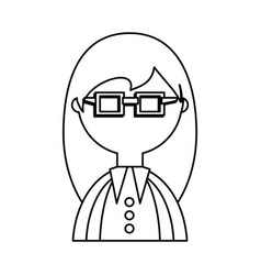 man geek cartoon vector image