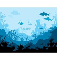 Ocean underwater world vector