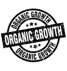 Organic growth round grunge black stamp vector