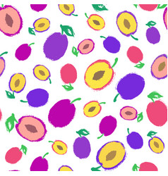Plum background painted pattern vector