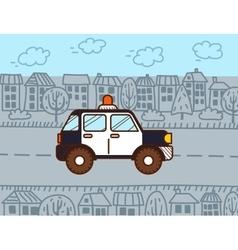 Police car cartoon vector