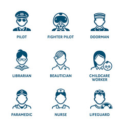 profession icons - set iv vector image vector image