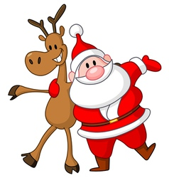 Reindeer and santa vector