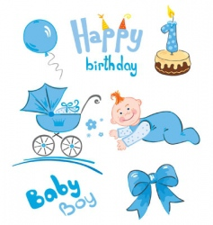 set of newborn vector image vector image